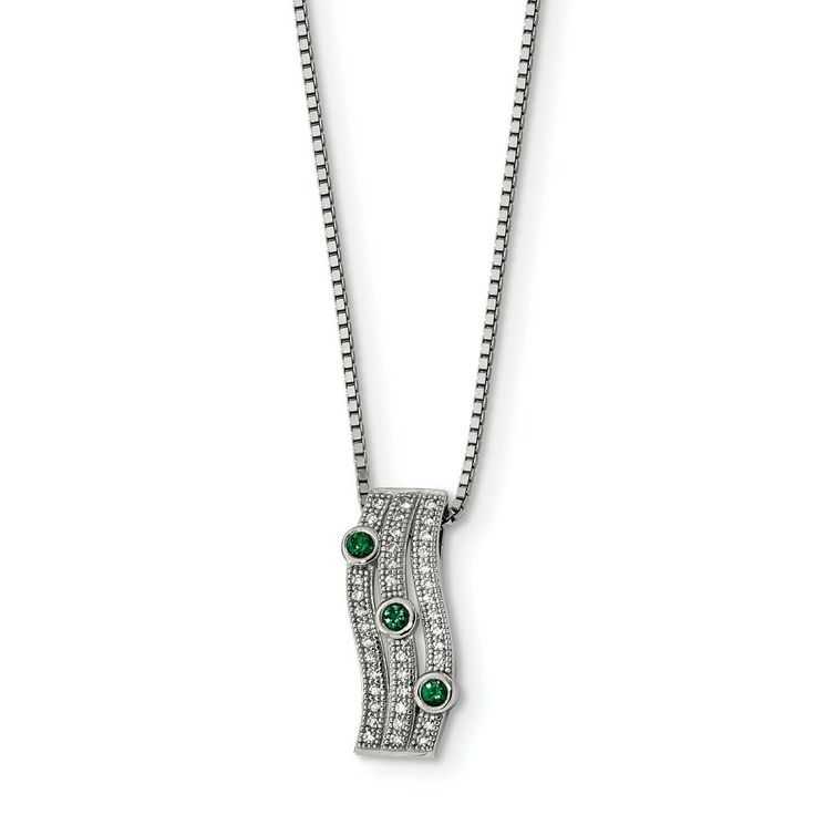 Jewelry Best Seller Sterling Silver /& CZ Brilliant Embers Polished Necklace