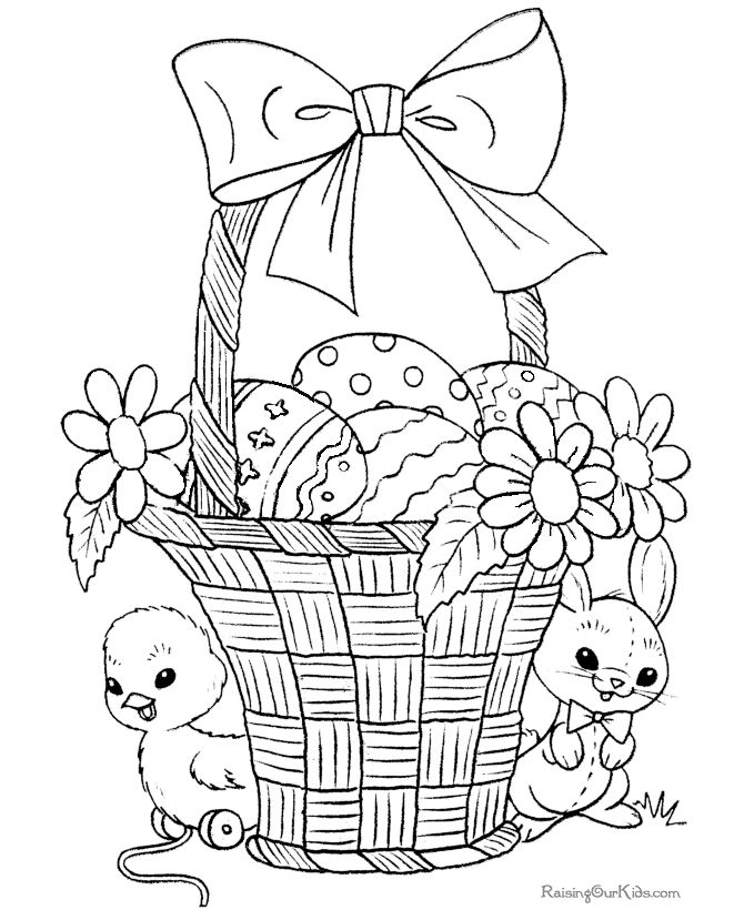 Easter Basket Coloring Pages And Hundreds More Sheets Pictures