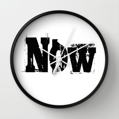 Now! NOW  I say! Wall Clock