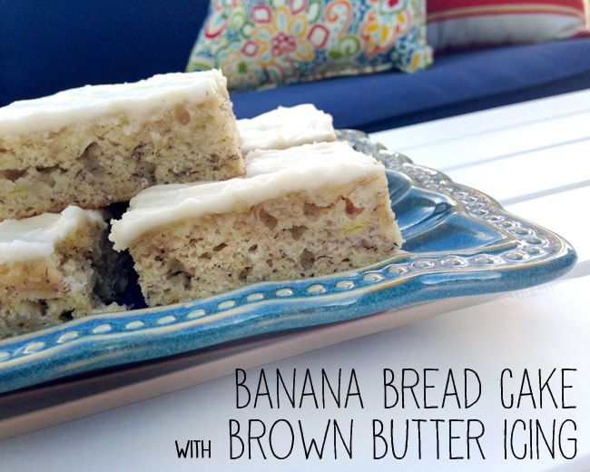 banana bread cake with Brown butter frosting.... using the frosting ...