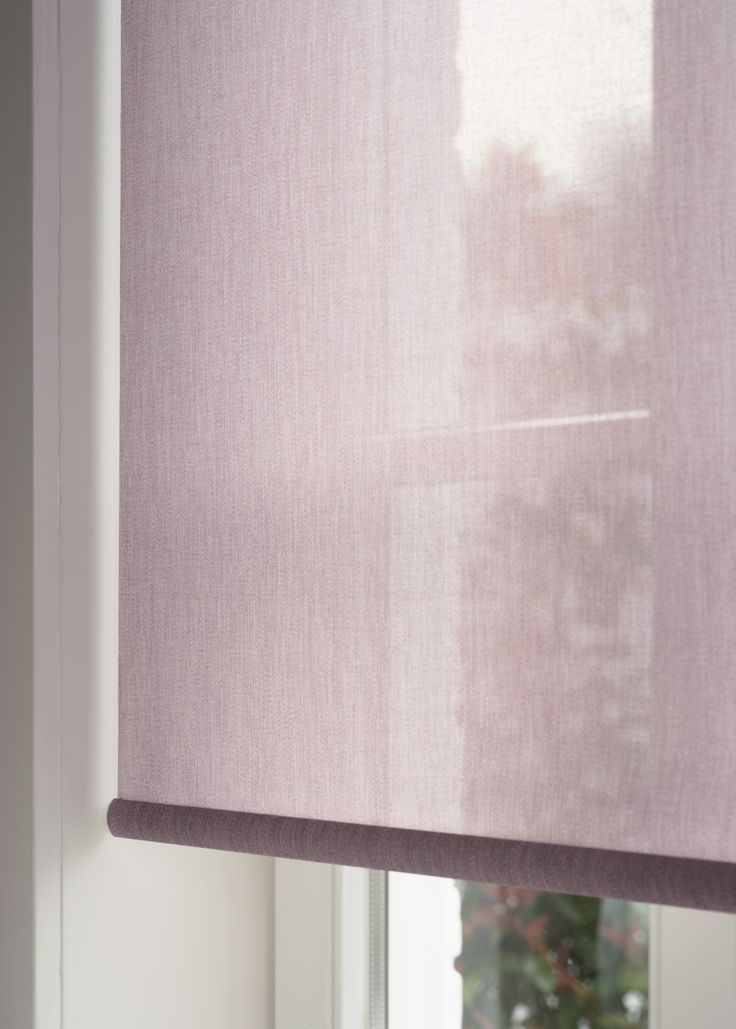 #Luxaflex Roller blind with a hint of colour on a sheer fabric #delicate