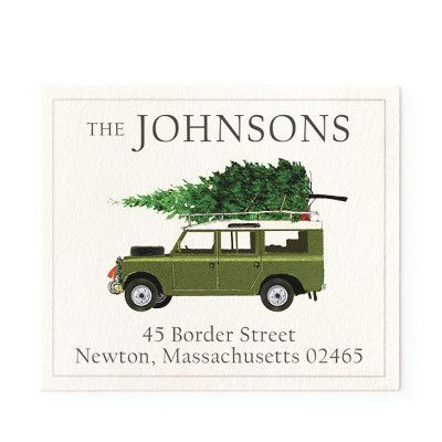 For Christmas - Return Address Labels | Stationery