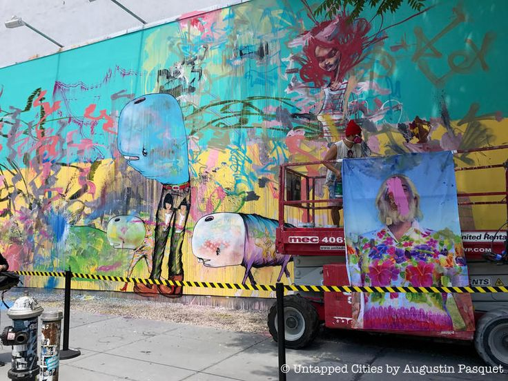 New Bowery Mural by David Choe is Going Up on Houston Street | Untapped Cities
