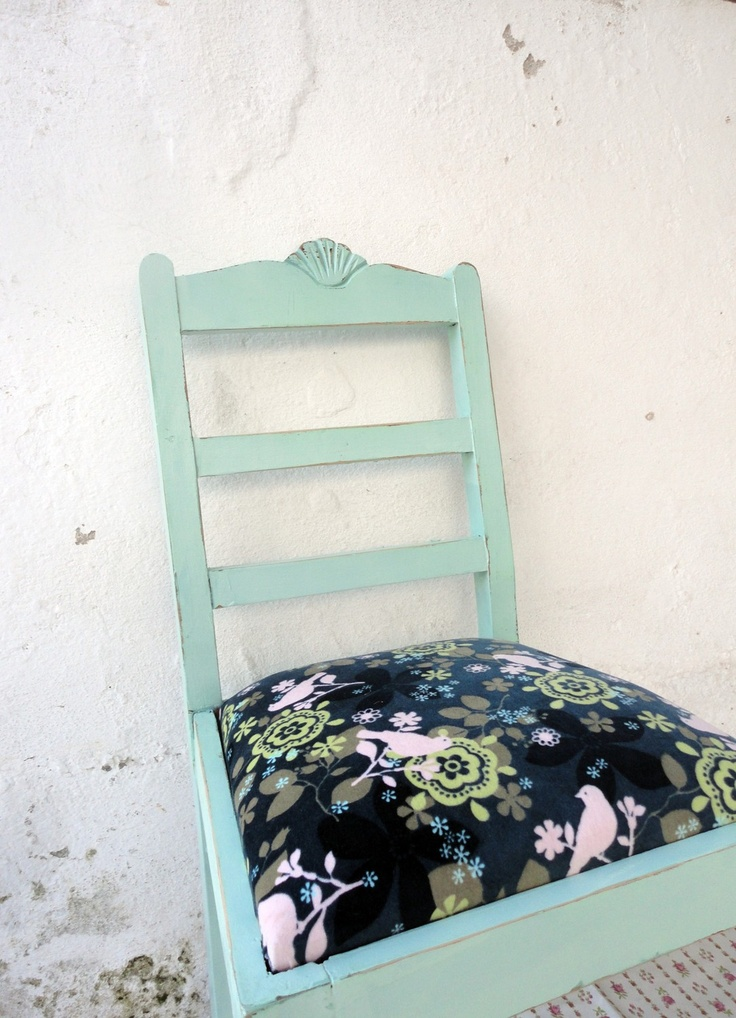 40 DISCOUNT Upcycled Green Vintage Chair by CarlaValverde on Etsy