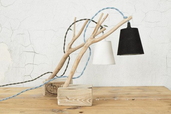 Natural Branched Table Light Cottage chic style by decordemon