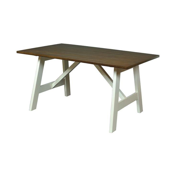 Mesa de comedor rectangular con las patas color - Bases para mesa de comedor ...