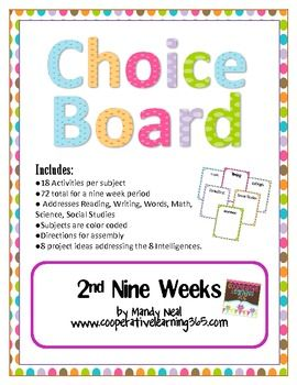 19 best reading choice board images on pinterest teaching ideas the early finishers choice board 2nd nine weeks pronofoot35fo Gallery