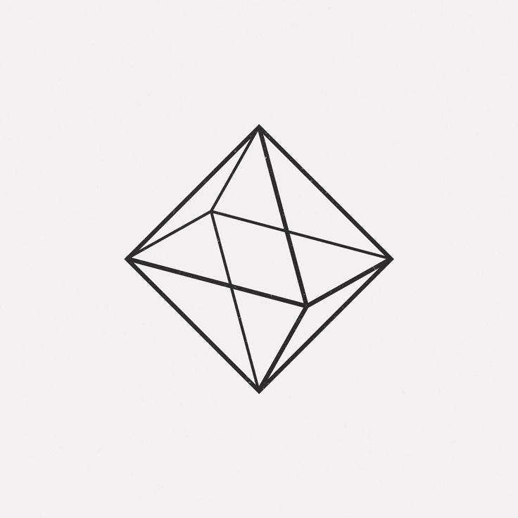 Triangle Geometric Line Art