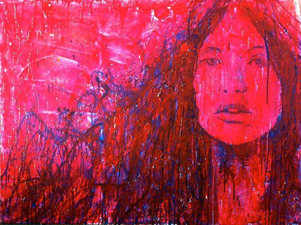 'Red Head' · 90x120cm · acrylic on canvas · © Sander Van Stijn · 2013