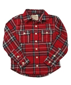 Red flannel shirt for boys! This is not only warm but stylish, too! Can be worn by itself or with a fun graphic tee underneath it!