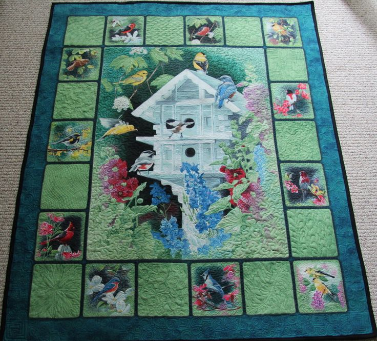 The quilting makes a panel really special. By JIllnjo on the Quiltingboard.com