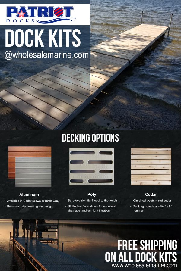 Patriot Modular Dock Kits Boat Dock Dock Aluminum Decking