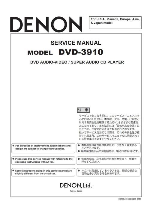 8 best Denon DVD Service Manuals images on Pinterest