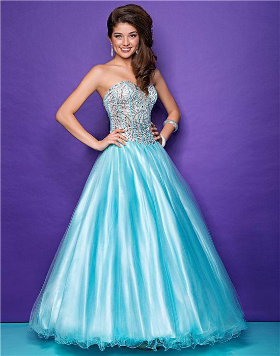 blauwe jurk met zilveren lijndjes op het topje