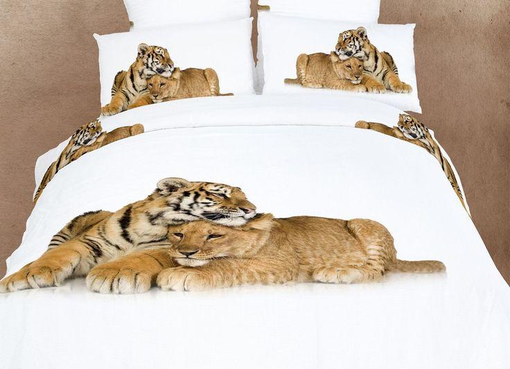 lion and tiger print 4 piece bedding setsduvet cover sets