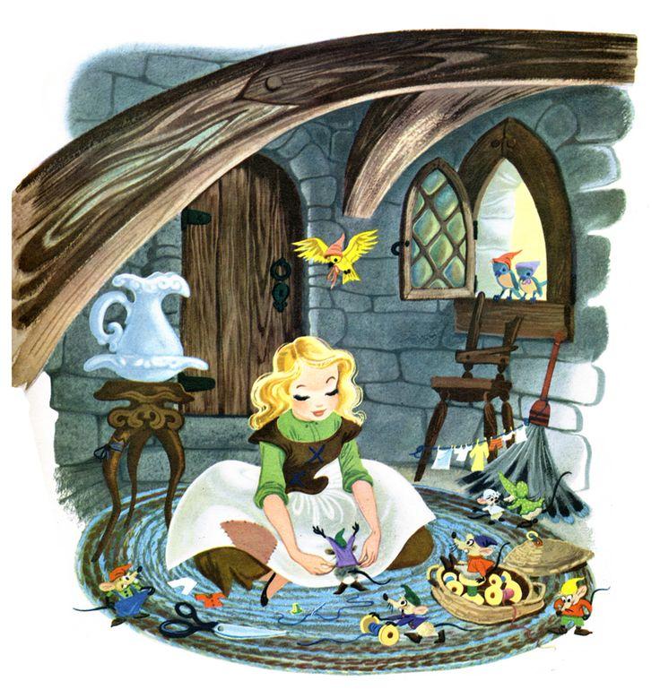 """for Heather: """"Walt Disney's Cinderella"""" Golden Book, Illustrated by Retta Scott (1950)"""