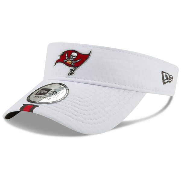 sports shoes 4dd8d 648c4 Men s Tampa Bay Buccaneers New Era White 2019 NFL Training Camp Official  Visor, Your Price