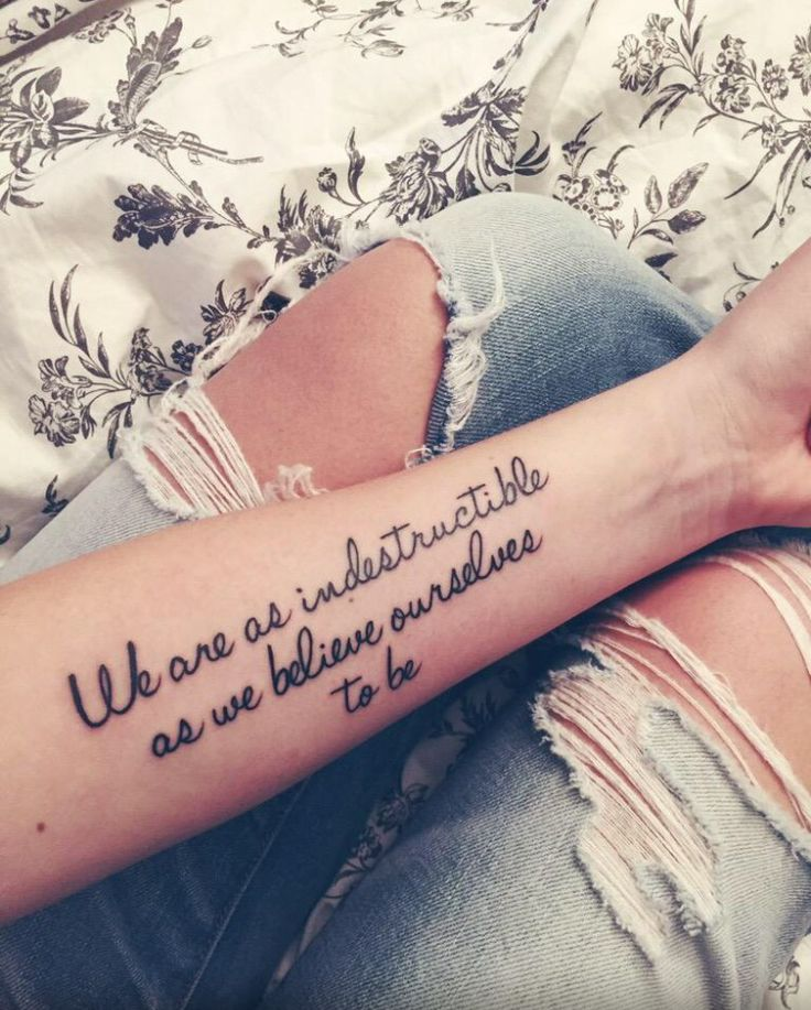 """We are as indestructible as we believe ourselves to be."" John Green. Looking For Alaska. Quote. Tattoo"
