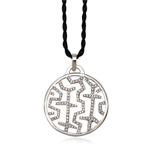 Entasis pendant in 18KT white gold with diamonds