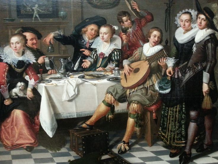 Merry Company by Isack Elyas, 1629 Rijksmuseum Amsterdam