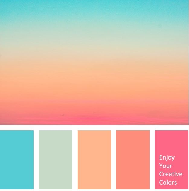 Color Palette 0036 Color Palette Pink Summer Color