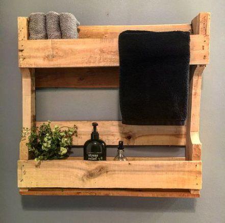 65+ Ideas bathroom shelves pallet half baths   – Bathroom *