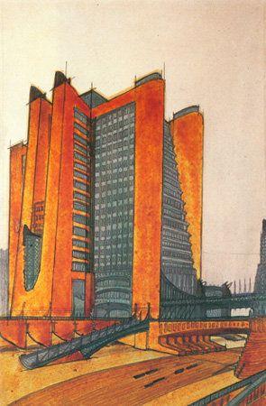 """Antonio Sant'Ella's """"La Citta Nuova"""" - 1914, Futurist Architecture"""