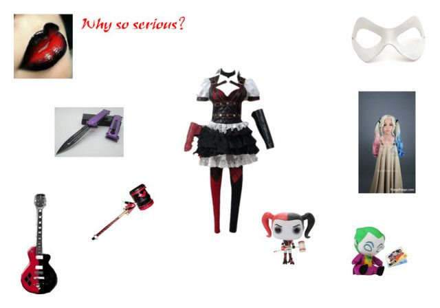 harley queen by mayleneholm on Polyvore featuring Masquerade