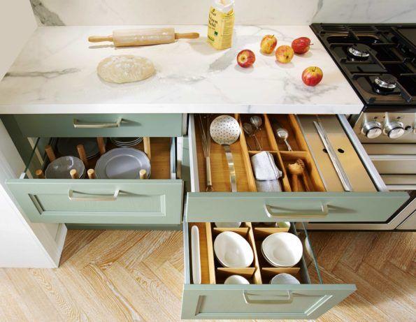 Genial Küche Organisieren: Ordnung In Schubladen Und Schränken. #küche # Küchenschrank #küchenschränke #