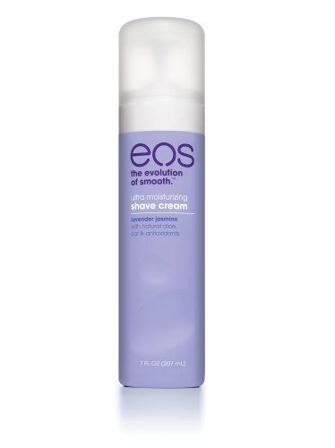 EOS Ultra Moisturizing Shave Cream, Lavender Jasmine, 7-Ounce Bottle (Pack of 3) by EOS. $8.94. The Evolution of Smooth Lavender Jasmine with natural aloe, oat & antioxidants. So moisturizing, you can shave wet or dry. (407) 772-7727  http://www.evolutionskincareclinic.com/