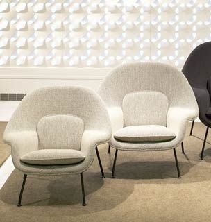 MEDIUM Saarinen womb chair. This is the smaller version of the womb chair. I think it would work nicely in the master bedroom. GSK.
