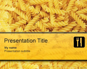 Pasta PowerPoint template background for Microsoft PowerPoint is a free pasta image for food presentations in PowerPoint