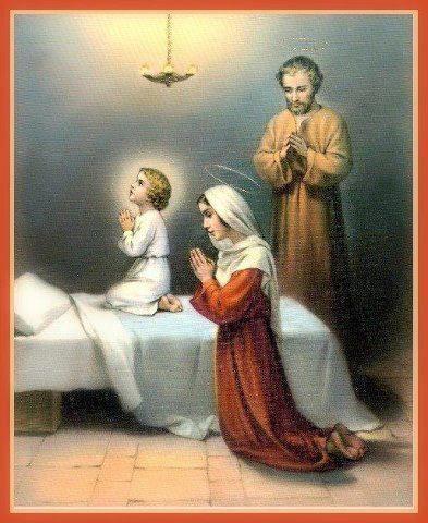 Holy Family praying