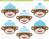 sock monkey heads