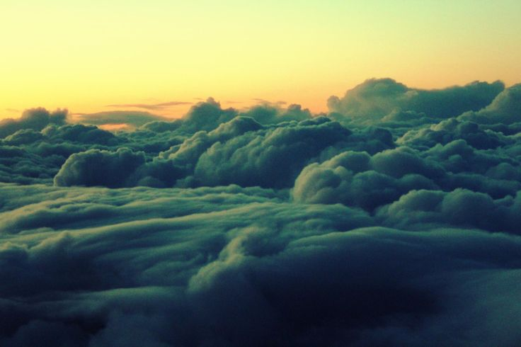 above clouds sunset - Google Search