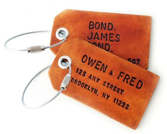 i love these leather luggage tags