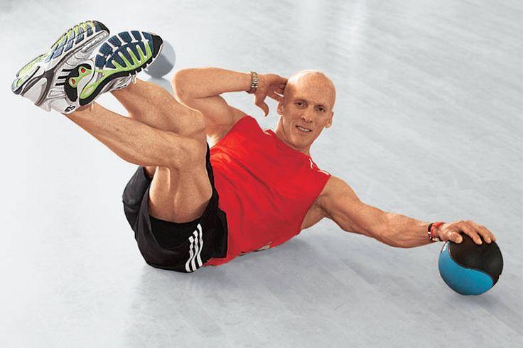 """Übung Workout """"David-Kirsch-Workout"""" für Twist-Crunch - hier Schritt für Schritt das Workout in einzelnen Übungen"""