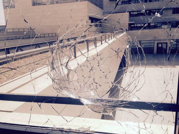 Impacto en un despacho del Instituto de Física Teórica, en Madrid - A 800m de un campo de tiro