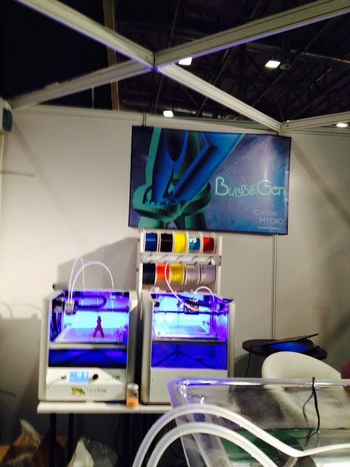 Dr Blooms showcasing 3D Printer