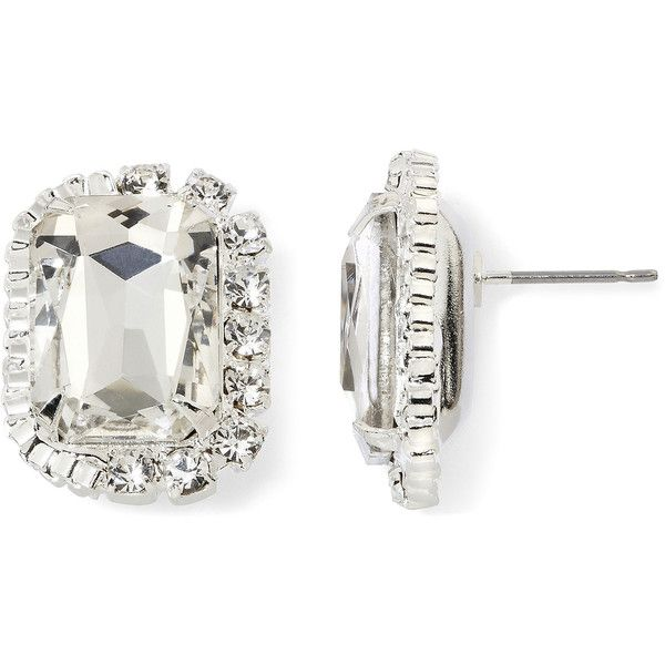 Vieste Crystal Earrings ($7.99) ❤ liked on Polyvore featuring jewelry, earrings, prom jewelry, clear jewelry, earring jewelry, prom earrings and crystal jewellery
