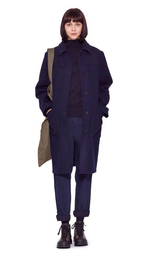 ZMH 002 - Grå rulekrave H&M, grå Odd Molly velourbukser, sort pea coat frakke, ørkenstøvler eller chelsea boots