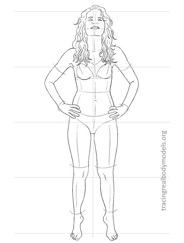 Tracing Real Body Models | An alternative to the stereotypical fashion figure templates