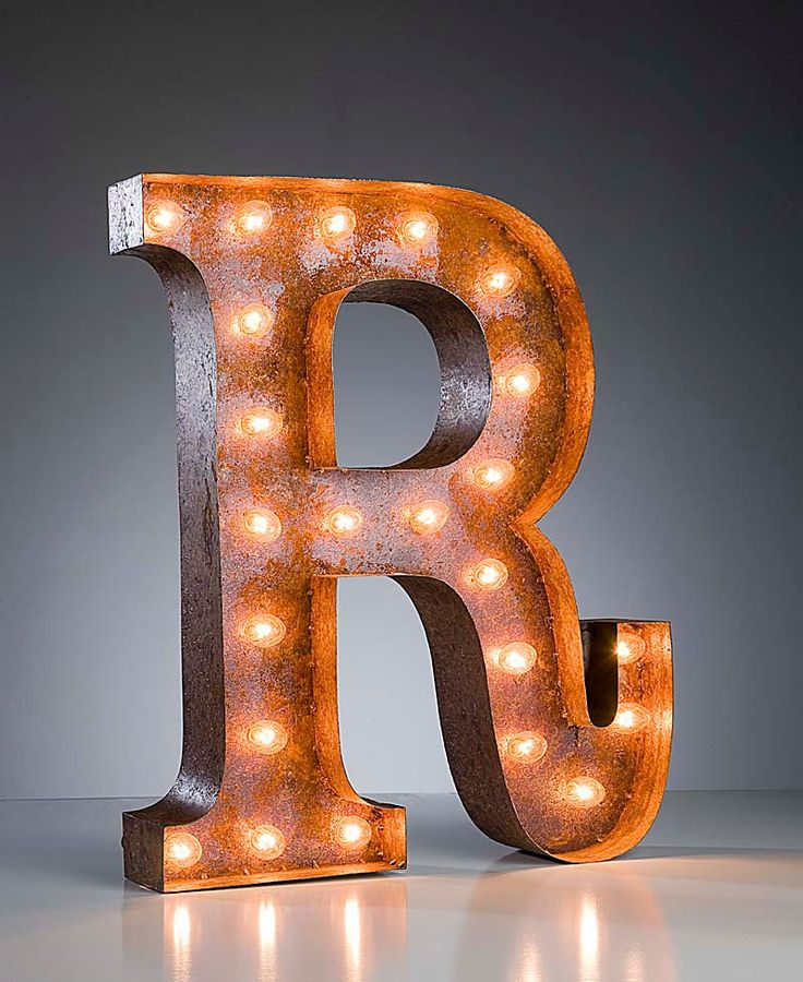 Letter r 24quot vintage marquee lights industrial metal for B marquee letter
