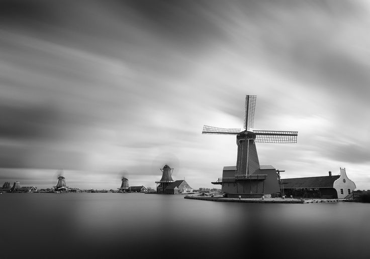 Wind Mills - Long Exposure shot at Zaanse Schans