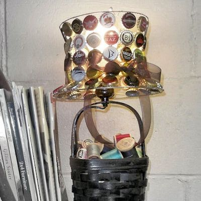 Bottle Cap Lamp Shade Craft: How To Make a Lamp Shade Using Bottle Caps