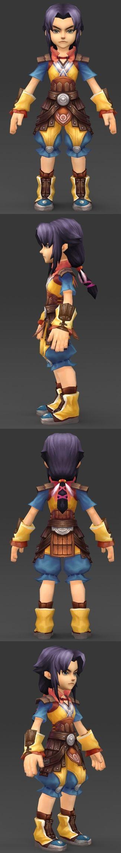 Cartoon Character Puli 3D Model