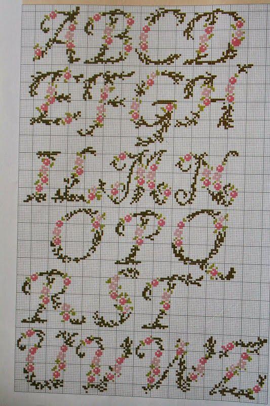 Χειροτεχνήματα: Μονογράμματα σταυροβελονιά (Cross stitch monograms)