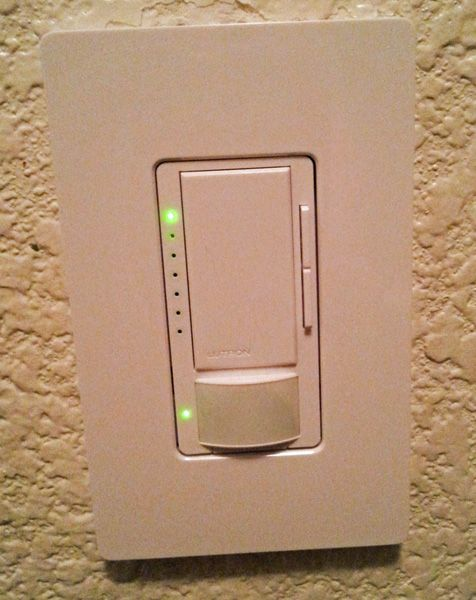 Lutron Sensors and Dimmers automatically turn on & off when you come and go! Awesome for your bill and saving your breath! #sponsored