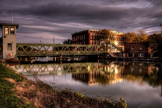There's no place like home. Brockport. Erie Canal.