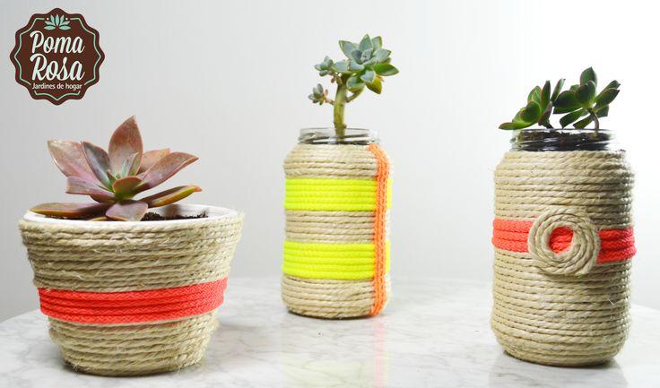 Lleva vida a tu hogar con estas materas únicas hechas por nosotros! Plantas: Suculentas  #Suculentas #Succulents #SuccuLove #Plantas #PomaRosa #RegalaDiseño #Decoracion #DIY